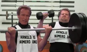 Arnold Acts Out His Films In 6 Minutes on the Late Late Show with James Corden