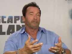 Sly and Arnold Interview With Joel Jaggar for Escape Plan