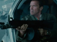 Trench in The Expendables 2 - Car Scene